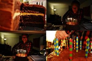 Matt was born! I made a cake! Hooray!